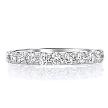 White Diamond 9 Stone .50 Carats Anniversary Band