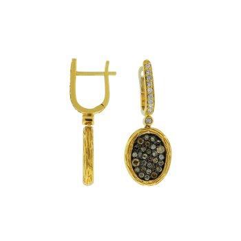 Diamond & Mocha Diamond Pavé Dangle Earrings