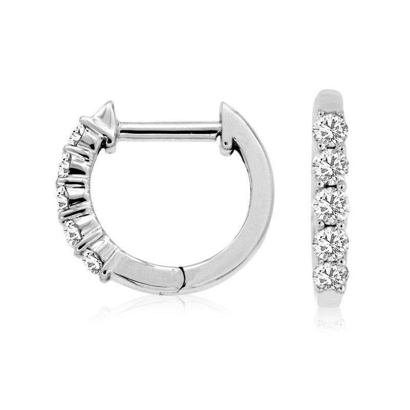 Murphy Pitard Signature Collection Small Diamond Hoop Earrings