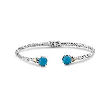 Sleeping Beauty Turquoise Twisted Bangle Bracelet
