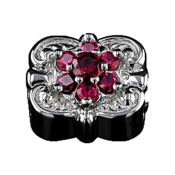 GK Coloures Pavé Synthetic Ruby Slide