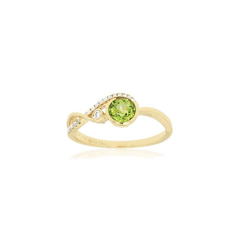 Murphy Pitard Signature Collection Peridot & Diamond Bypass Fashion Ring