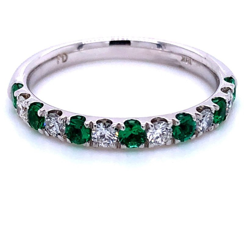 Murphy Pitard Signature Collection Diamond & Emerald Band