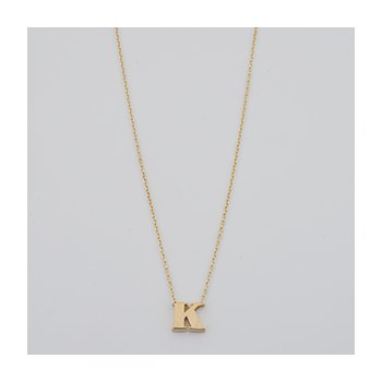 Polished K Initial Necklace
