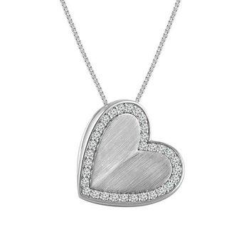 Radiant Universe 1/4 Carats Diamond Heat Pendant Necklace