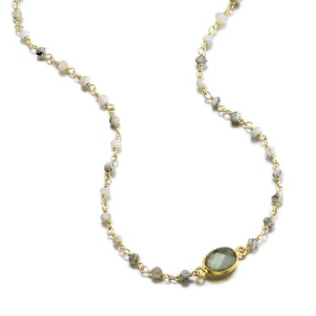 Dendrite Opal and Labradorite Libi Necklace