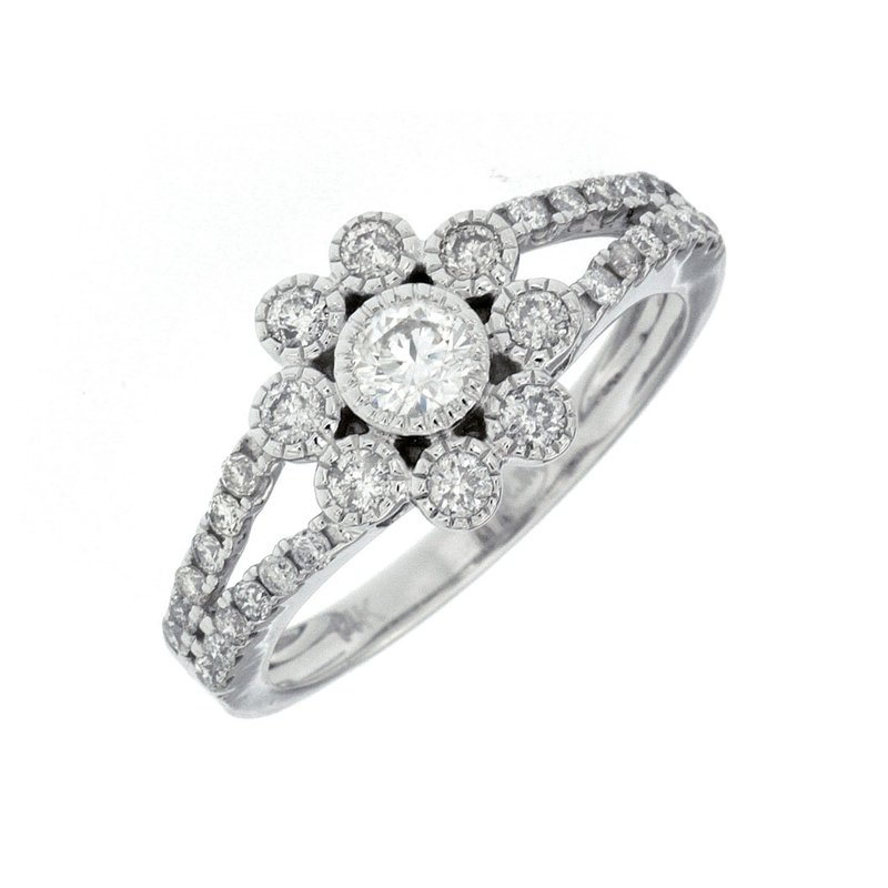 Murphy Pitard Signature Collection Floral Inspired Diamond Engagement Ring