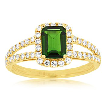 Diamond Accented Russalite Fashion Ring
