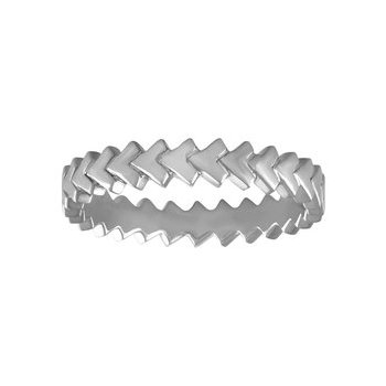 Stacking Chevron Eternity Band