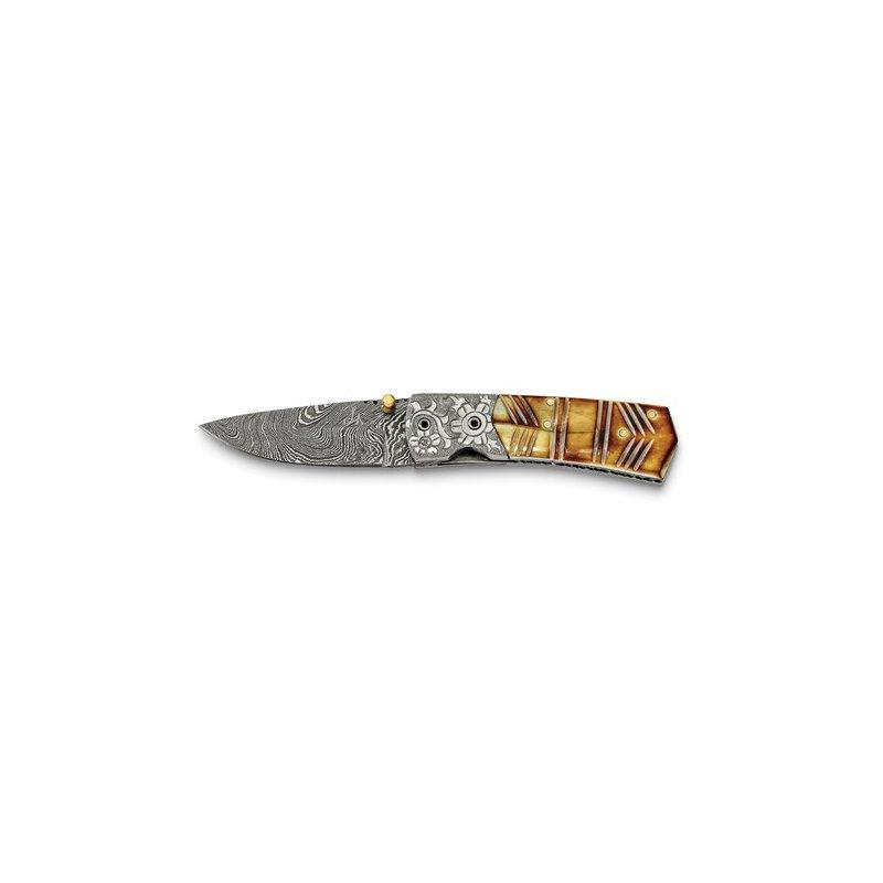 Murphy Pitard Signature Collection Camel Bone Damascus Knife