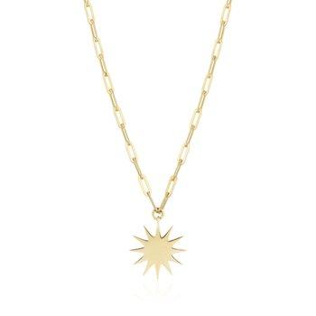 Sunburst Charm Necklace