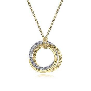 Diamond Pavé Interlocking Circle Necklace