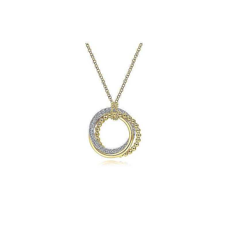 Gabriel & Co. New York Diamond Pavé Interlocking Circle Necklace