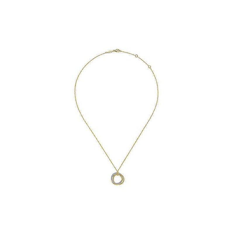 Gabriel & Co. New York Diamond Pavé Interlocking Circle Necklace