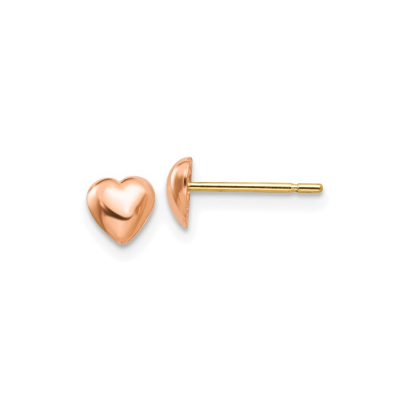 Murphy Pitard Signature Collection Polished Heart Stud Earrings