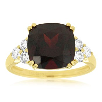 Diamond & Garnet Fashion Ring