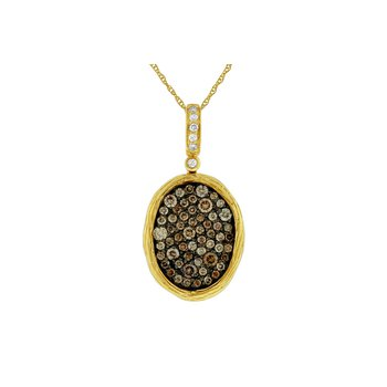 Diamond & Mocha Diamond Pavé Pendant Necklace