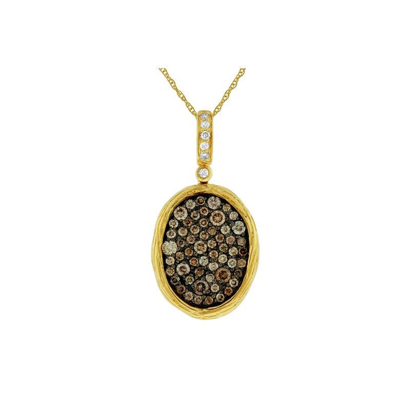 Murphy Pitard Signature Collection Diamond & Mocha Diamond Pavé Pendant Necklace