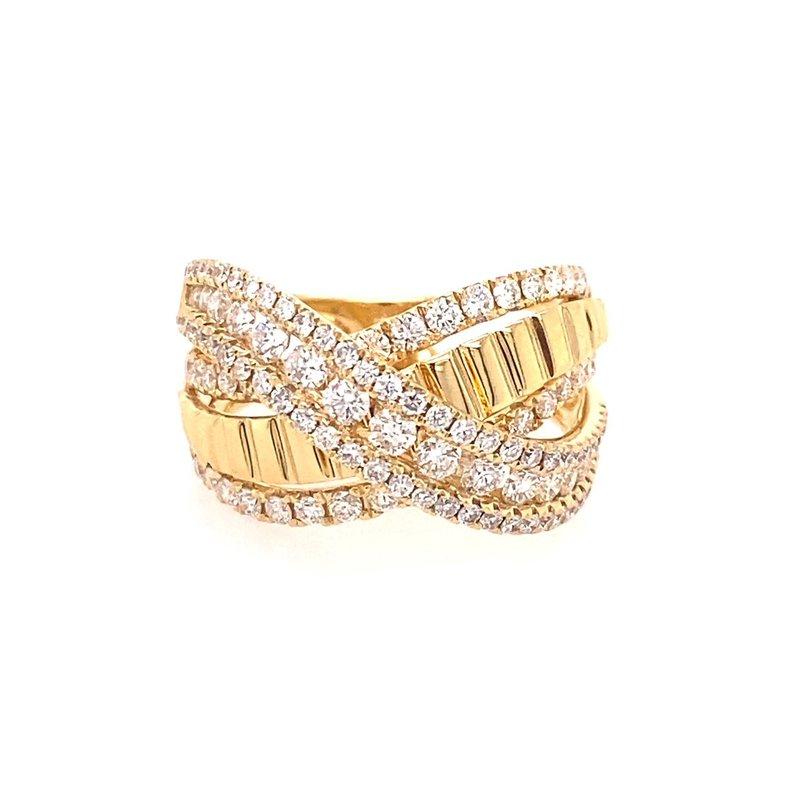 Murphy Pitard Signature Collection Diamond & Polish Multi Row Crossover Fashion Ring