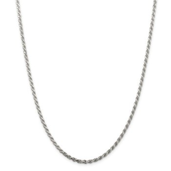 Silver 2.75 Millimeter Rope Chain