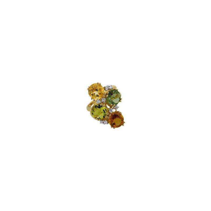 Murphy Pitard Signature Collection Multi-Stone and Diamond Fashion Dinner Ring