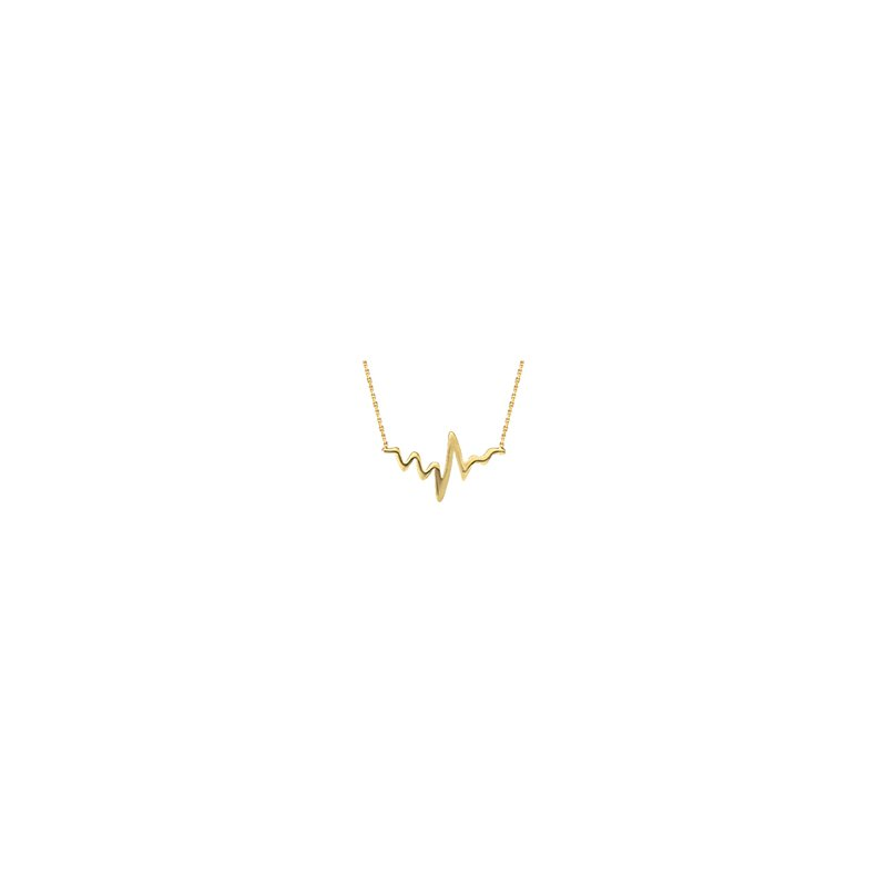 Murphy Pitard Signature Collection Heartbeat Adjustable Gold Necklace