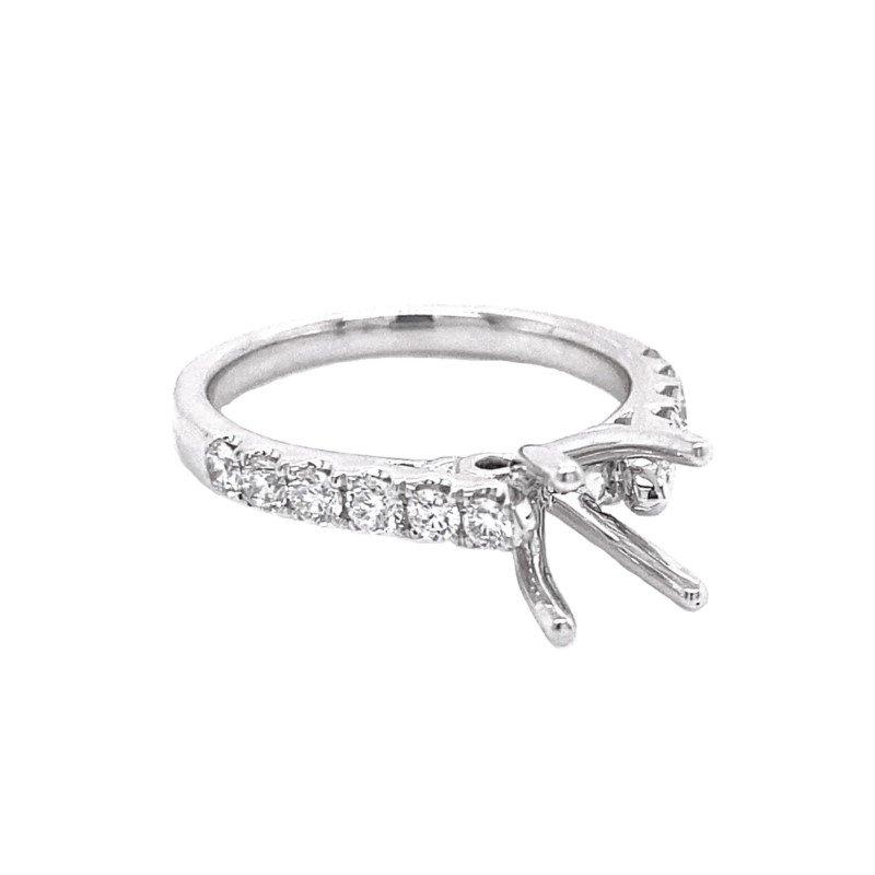 Murphy Pitard Signature Collection Round Diamond Side Stone Engagement Ring