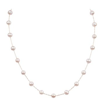 Tin Cup 6-6.5 Millimeter Pearl Necklace