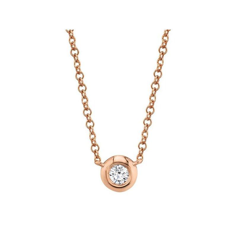 Shy Creation Bailey Collection Diamond .05 Carats Bezel Necklace