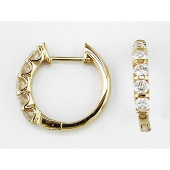 Diamond 1.0 Carat Small Hoop Earrings