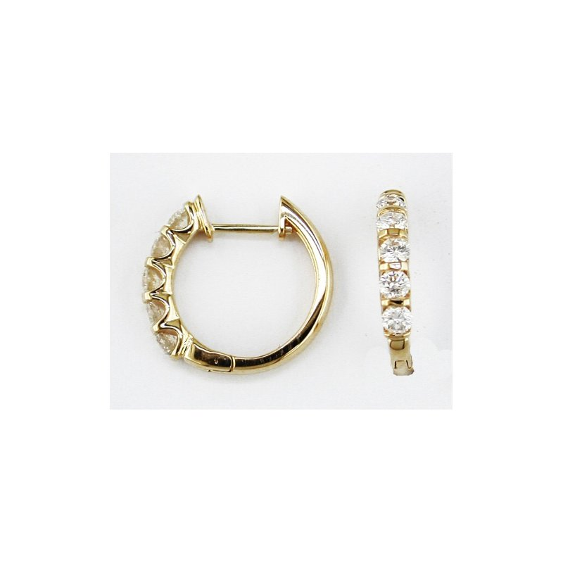 Murphy Pitard Signature Collection Diamond 1.0 Carat Small Hoop Earrings