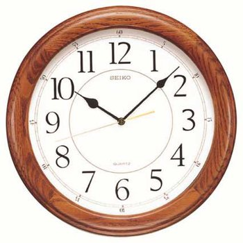 Seiko Yorkton Wooden Wall Clock