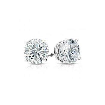 Diamond 1 1/4 Carats Traditional Stud Earrings