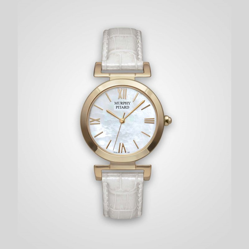 Murphy Pitard Signature Collection Murphy Pitard 30 Millimeter Dress Watch with Mother of Pearl Dial