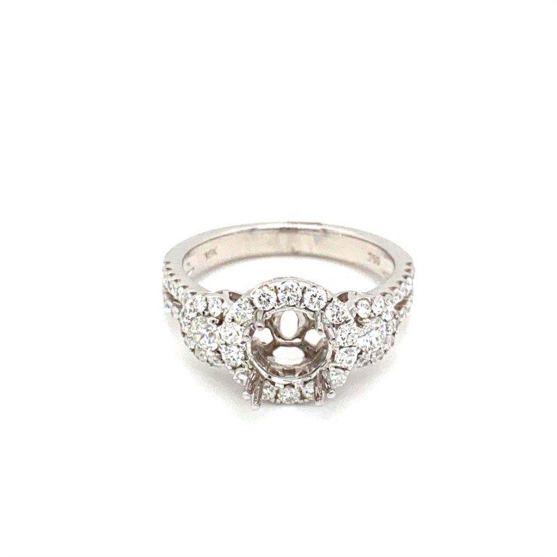 Murphy Pitard Signature Collection Diamond Triple Halo Round Engagement Ring