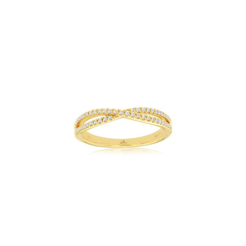 Murphy Pitard Signature Collection Diamond Criss Cross Ring