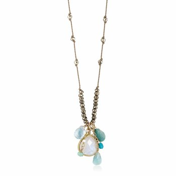 Moonstone and Turquoise Sylvie Necklace
