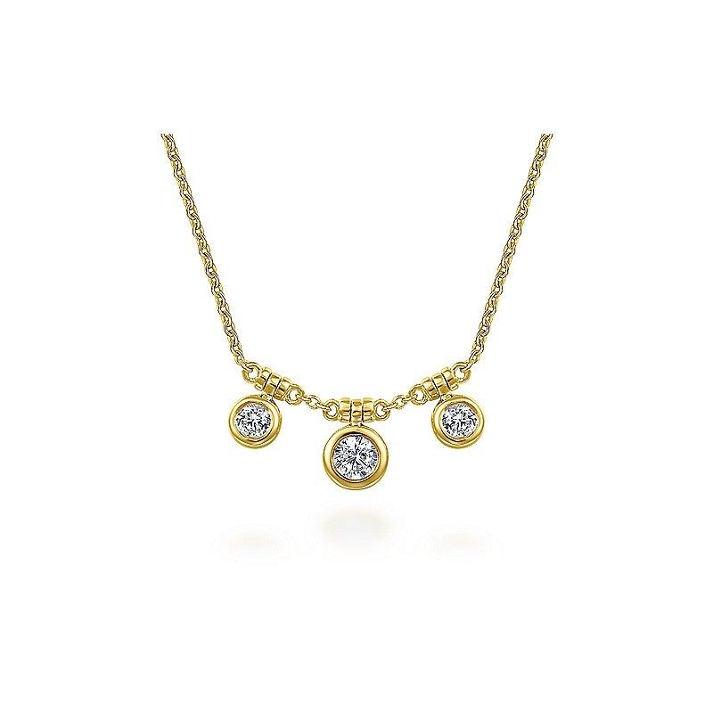 Gabriel & Co. New York Diamond Bezel Choker Necklace
