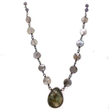 Mystic Black Labradorite Necklace