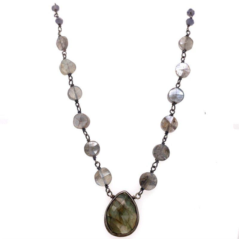 ela rae new york city Mystic Black Labradorite Necklace