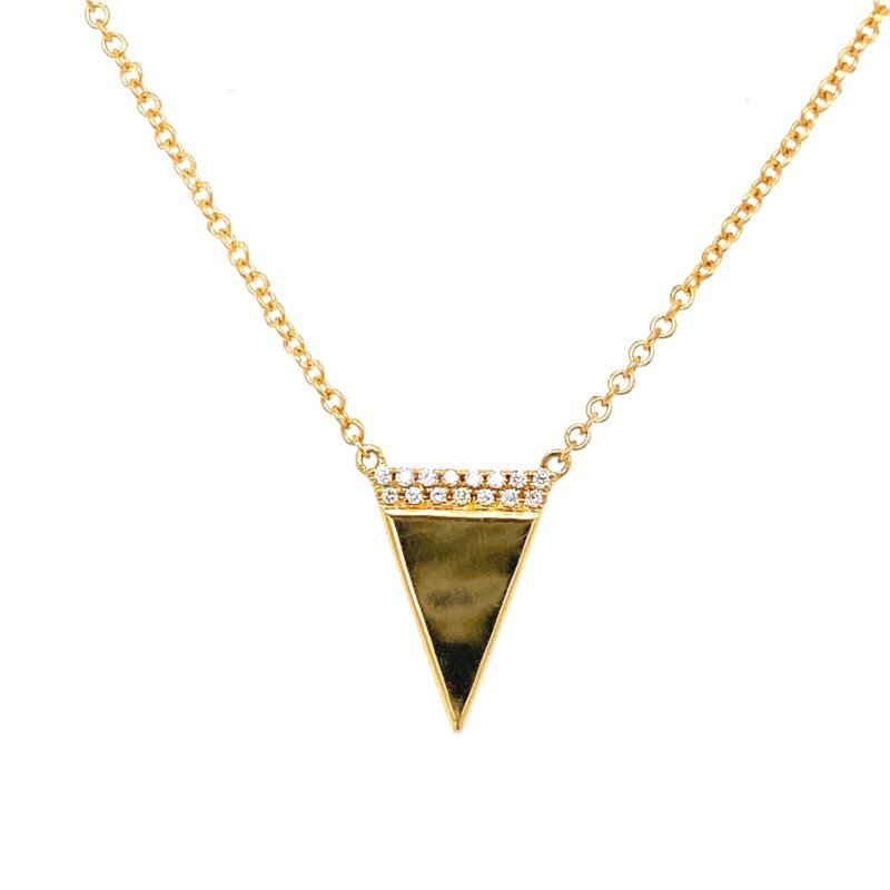 Murphy Pitard Signature Collection Diamond Accented Triangle Adjustable Necklace