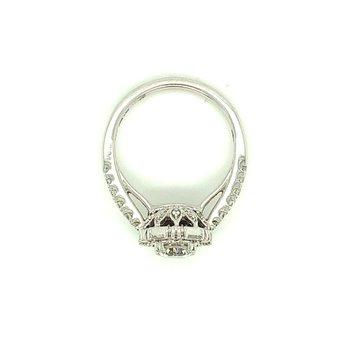 Round & Baguette Diamond Engagement Ring