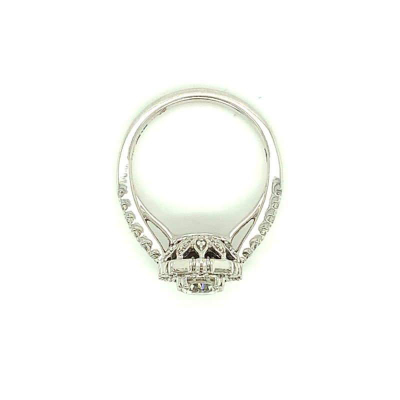 Murphy Pitard Signature Collection Round & Baguette Diamond Engagement Ring