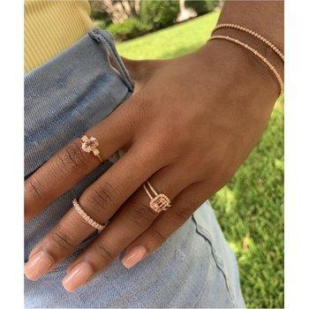 Diamond & Morganite Split Fashion Ring