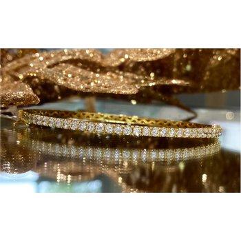 Diamond 1 1/2 Carats Bangle Bracelet