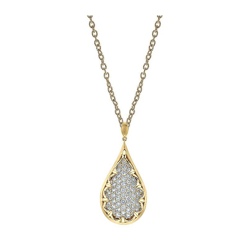 Murphy Pitard Signature Collection Diamond Pavé Drop Pendant Necklace