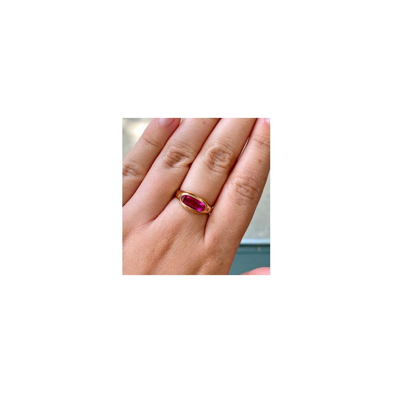Murphy Pitard Estate Collection Created Oval Ruby Ring