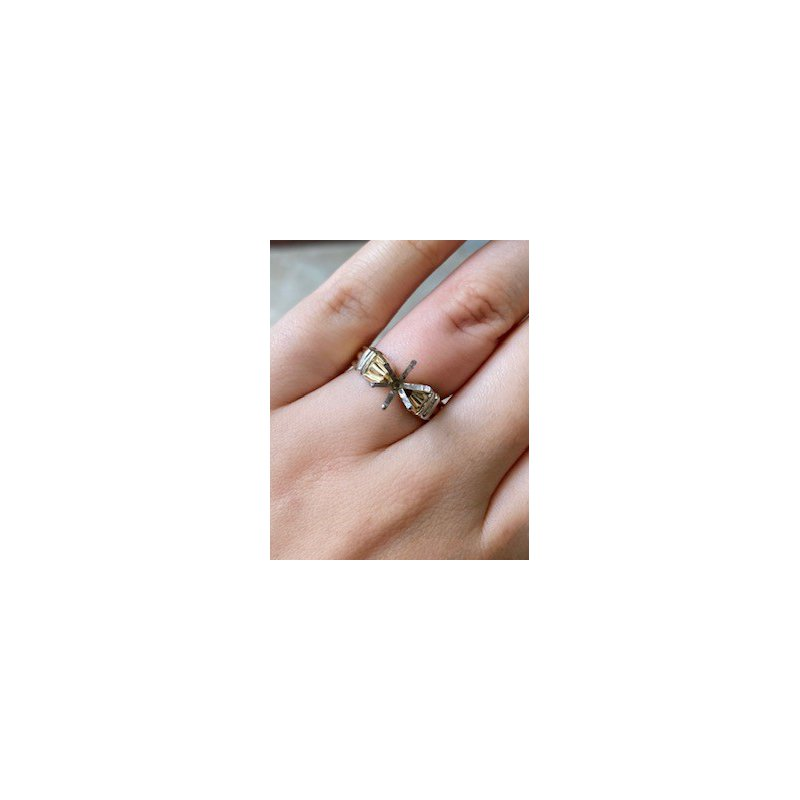 Murphy Pitard Estate Collection Gold Two Tone Solitaire Mounting