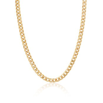 Gold Vermeil Curb Link Chain