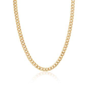 Gold Vermeil Curb Link Chain